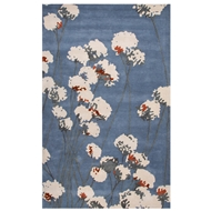 Jaipur Cotton Blossom Rug From En Casa By Luli Sanchez LST32 - Blue/Ivory