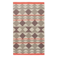Jaipur Cusco Rug From Traditions Made Modern Cotton Flat Weave Collection MCF10 - Gray/Pink