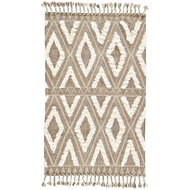 Jaipur Darby Rug From Kokoda Collection KOK02 - Brown/White