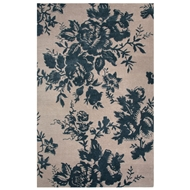 Jaipur Dora Rug From Shadow Collection SHO01 - Ivory/Blue