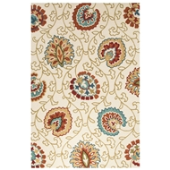 Jaipur Elliot Rug From Blossom Collection BSM10 - Ivory/Orange