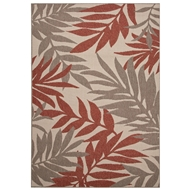 Jaipur Fern Rug From Bloom Collection BLO08 - Ivory/Red