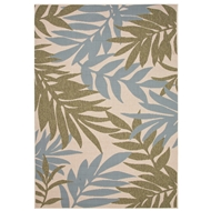 Jaipur Fern Rug From Bloom Collection BLO01 - Green/Blue