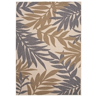 Jaipur Fern Rug From Bloom Collection BLO03 - Gray/Taupe