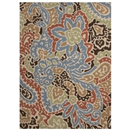 Jaipur Flores Rug From Barcelona I-O Collection BA04 - Blue/Red