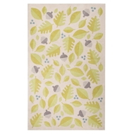 Jaipur Foliage Rug From Iconic By Petit Collage Collection IBP02 - Green/Ivory