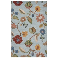Jaipur Garden Party Rug From Blue Collection BL132 - Blue/Yellow