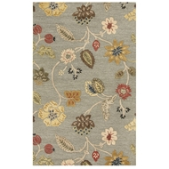 Jaipur Garden Party Rug From Blue Collection BL83 - Blue/Red