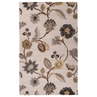 Jaipur Garden Party Rug From Blue Collection BL145 - Ivory/Gray