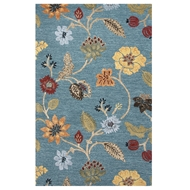 Jaipur Garden Party Rug From Blue Collection BL131 - Blue