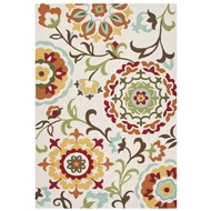 Jaipur Garden Rug From Blossom Collection BSM01 - Ivory/White