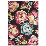 Jaipur Hart Rug From Flora Collection FLO04 - Black/Pink
