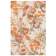 Jaipur Honey Rug From En Casa by Luli Sanchez LST66 - Ivory/Orange