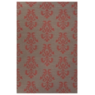 Jaipur Khalid Rug From Urban Bungalow Collection UB23 - Gray/Red