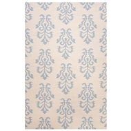 Jaipur Khalid Rug From Urban Bungalow Collection UB27 - Ivory/Blue