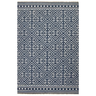 Jaipur Lahu Rug From Batik Collection BAT03 - Blue/Ivory