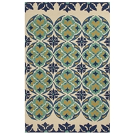 Jaipur Malta Rug From Barcelona I-O Collection BA45 - Blue/Green