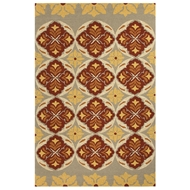 Jaipur Malta Rug From Barcelona I-O Collection BA46 - Red/Yellow