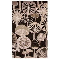 Jaipur Mushrooms Rug From En Casa By Luli Sanchez LST39 - Black/White
