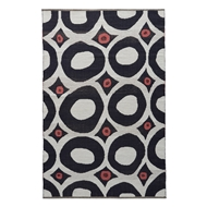 Jaipur Niamey Rug From National Geographic Home Collection NGC03 - White/Black
