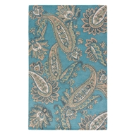 Jaipur Paisley Rug From Timeless By Jennifer Adams JAT29 - Blue/Yellow