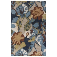 Jaipur Petal Pusher Rug From Blue Collection BL153 - Blue/Green