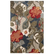 Jaipur Petal Pusher Rug From Blue Collection BL116 - Blue/Red