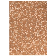 Jaipur Prise Rug From Coastal Tides Collection COT11 - Orange/Ivory