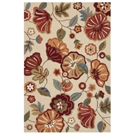 Jaipur Rosewood Rug From Blossom Collection BSM05 - Ivory/White