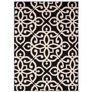 Jaipur Scrolled Rug From Bloom Collection BLO12 - Black/Taupe