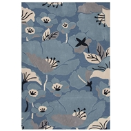 Jaipur Shoot Rug From Flora Collection FLO01 - Blue/Taupe