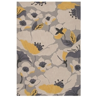 Jaipur Shoot Rug From Flora Collection FLO02 - Gray/Yellow