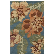 Jaipur Spencer Rug From Coastal Seaside Collection COS36 - Orange/Blue