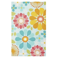 Jaipur Spring Flowers Rug From Iconic By Petit Collage Collection IBP09 - Blue/Red