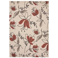 Jaipur Spring Rug From Bloom Collection BLO07 - Ivory/Red