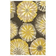 Jaipur Starburst Rug From Barcelona I-O Collection BA56 - Yellow/Gray