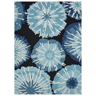 Jaipur Starburst Rug From Barcelona I-O Collection BA22 - Blue/Black