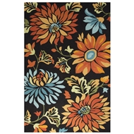 Jaipur Stella Rug From Blossom Collection BSM07 - Black/Orange