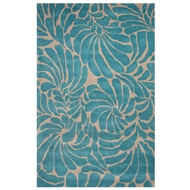 Jaipur Swirls Rug From En Casa By Luli Sanchez LST28 - Blue/Ivory