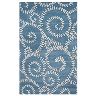Jaipur Tendrils Rug From En Casa By Luli Sanchez LST37 - Blue/Gray