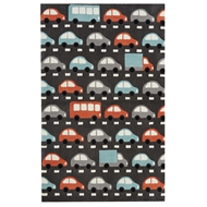 Jaipur Traffic Rug From Iconic By Petit Collage Collection IBP06 - Dark Gray/Multi-Colored