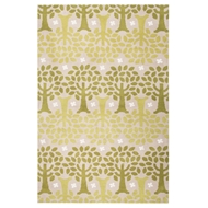 Jaipur Trees Rug From Iconic By Petit Collage Collection IBP01 - Green/Ivory