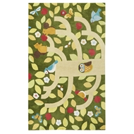 Jaipur Treetop Rug From Iconic By Petit Collage Collection IBP11 - Green/Yellow
