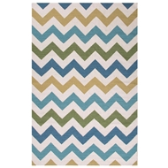 Jaipur Zazzy Rug From Maroc Collection MR101 - Ivory/Blue