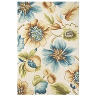 Jaipur Zinna Rug From Flora Collection FLO05 - Ivory/Blue