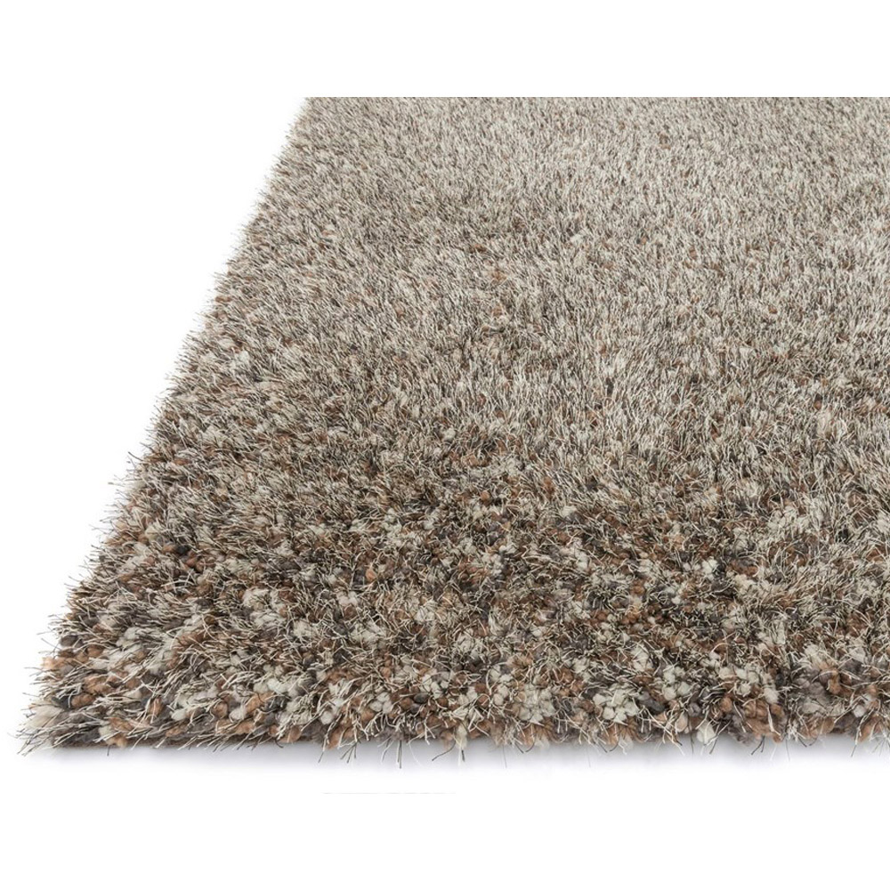 ... Loloi Callie Shag Area Rug - Light Brown u0026 Multicolored Rug - 100%  Polyester ...