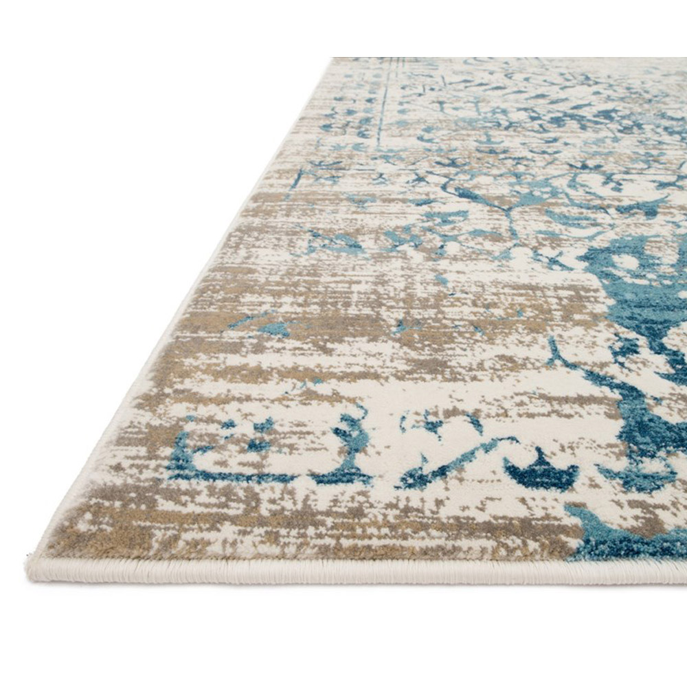 Loloi Kingston Rug Ivory & Blue KT-05