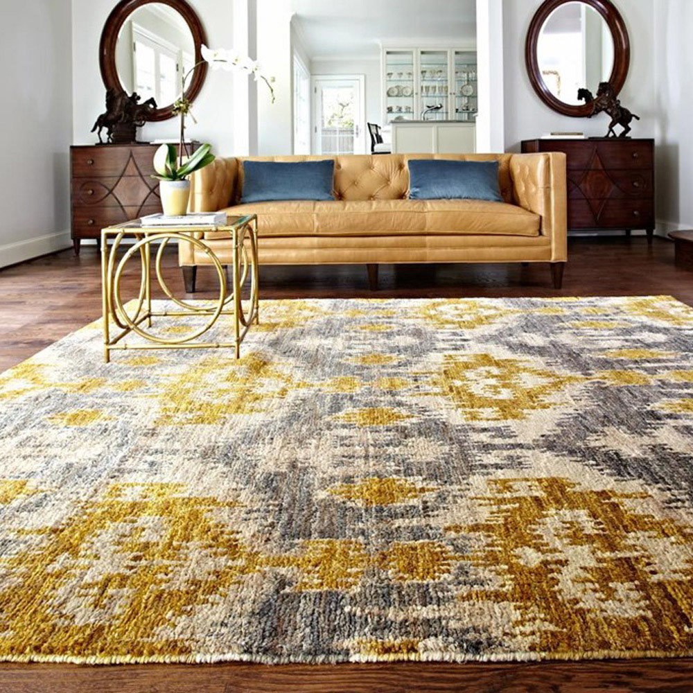Loloi xavier rug grey gold xv 04 transitional area rugs - Gold rug for living room ...