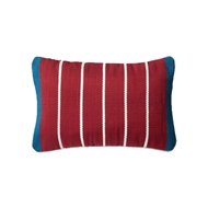 "Magnolia Home 13"" x 21"" Pillow Blue & Red - P0508 by Joanna Gaines"