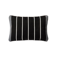 "Magnolia Home 13"" x 21"" Pillow Black & Grey - P0508 by Joanna Gaines"